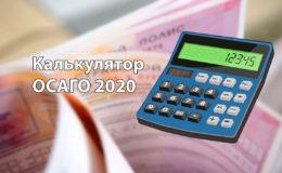 Калькулятор ОСАГО 2020